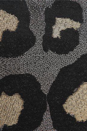 MARC BY MARC JACOBS The Roxy 28 metallic leopard-print canvas clutch