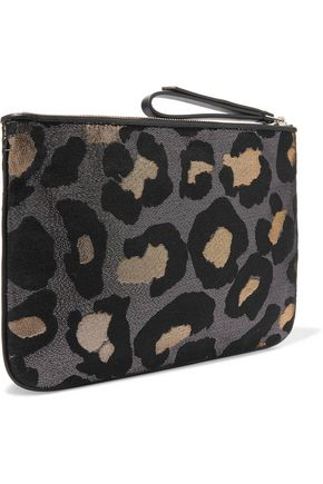 MARC BY MARC JACOBS The Roxy 28 metallic leopard-print canvas clutch