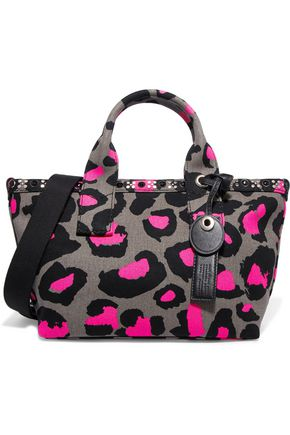 MARC BY MARC JACOBS Small leopard-print cotton-canvas tote