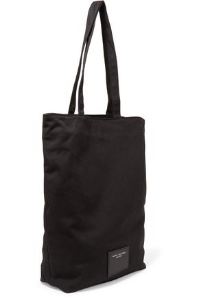 MARC JACOBS Embellished woven cotton tote