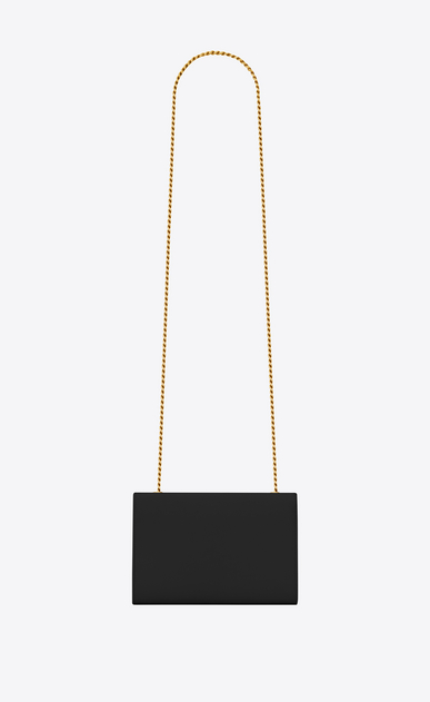 SAINT LAURENT MONOGRAM KATE Woman classic small kate chain bag in black textured leather b_V4