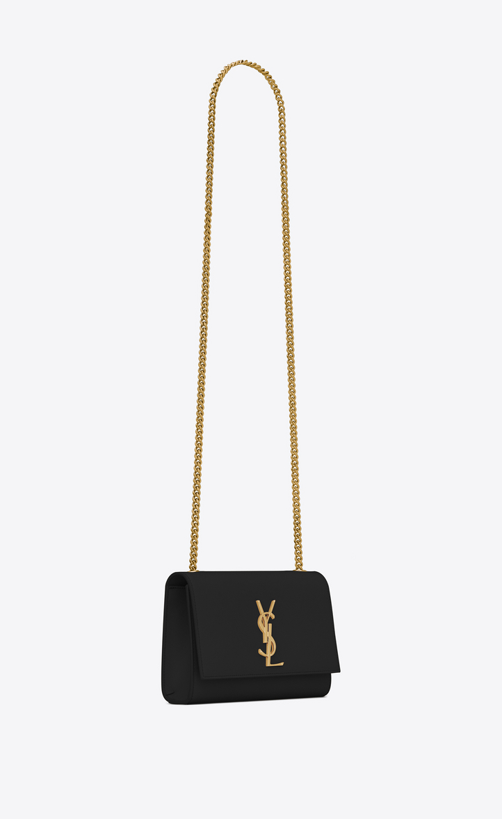 saint laurent kate small in grain de poudre embossed leather
