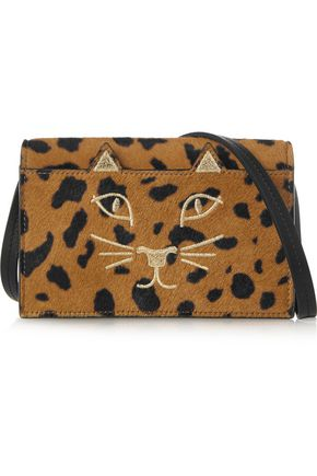 CHARLOTTE OLYMPIA Feline leopard-print calf hair shoulder bag