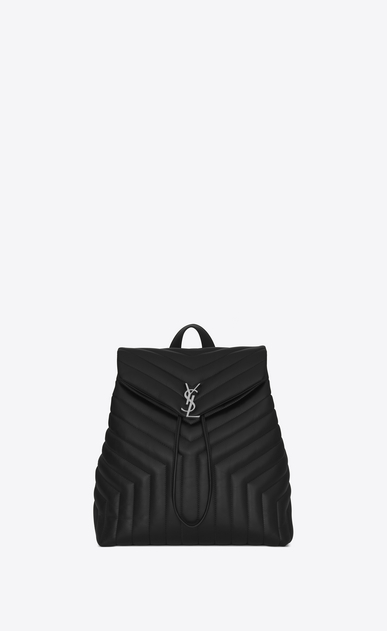 "loulou medium backpack in matelassé ""Y"" leather"