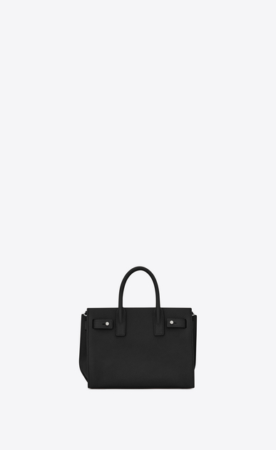 SAINT LAURENT Sac De Jour Supple D nano sac de jour souple bag in black grained leather b_V4