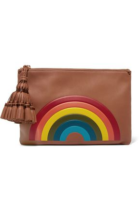 ANYA HINDMARCH Georgiana printed leather clutch