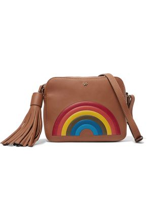 ANYA HINDMARCH Rainbow embossed leather shoulder bag