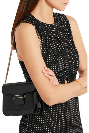 VANESSA SEWARD Camelia matte and patent-leather shoulder bag