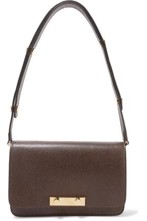 MARNI Saffiano textured-leather shoulder bag