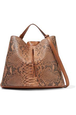 MAISON MARGIELA Paneled python and leather shoulder bag
