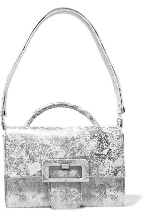 MAISON MARGIELA Printed textured-leather shoulder bag