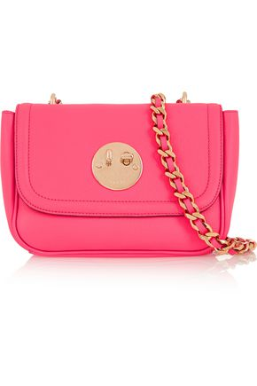 HILL & FRIENDS Happy Chain textured-leather shoulder bag