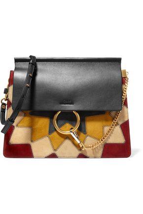 CHLOÉ Faye Wonder Woman medium patchwork suede and leather shoulder bag