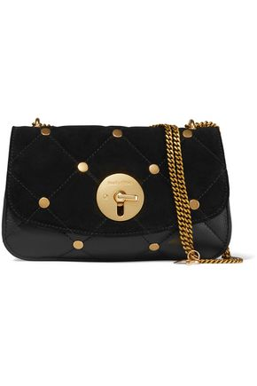 SEE BY CHLOÉ Lois studded quilted suede and leather shoulder bag