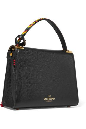 VALENTINO My Rockstud embellished textured-leather tote