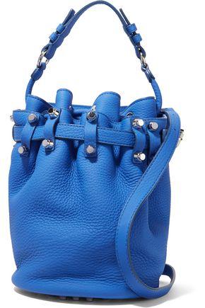 ALEXANDER WANG Diego studded textured-leather shoulder bag