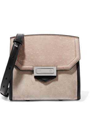 ALEXANDER WANG Marion ostrich, suede and leather shoulder bag