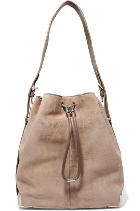 ALEXANDER WANG Prisma leather-paneled suede shoulder bag