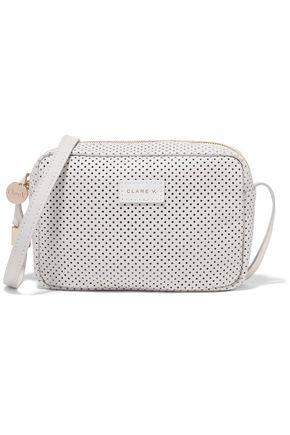MASTER&MUSE x CLARE V. Mini Sac perforated leather shoulder bag