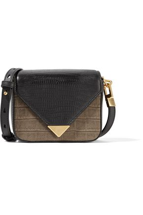 ALEXANDER WANG Prisma croc-effect leather shoulder bag