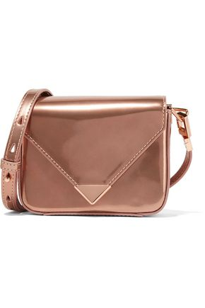 ALEXANDER WANG Prisma mini metallic patent-leather shoulder bag