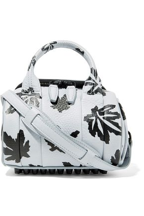 ALEXANDER WANG Rockie mini printed textured-leather shoulder bag