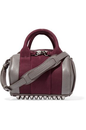 ALEXANDER WANG Rockie mini two-tone textured nubuck and leather shoulder bag