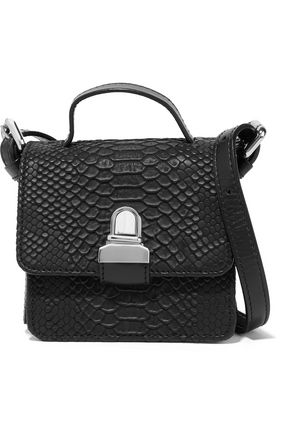 MM6 MAISON MARGIELA Metallic faux snake-effect leather shoulder bag