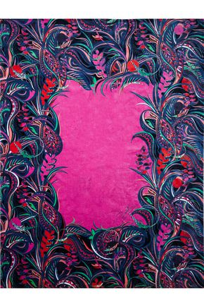 EMILIO PUCCI Printed cotton-terry towel