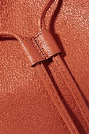 GUCCI Bamboo-trimmed textured-leather shoulder bag