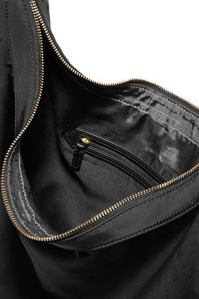 ELIZABETH AND JAMES Zoe large tasseled leather-trimmed shell shoulder bag
