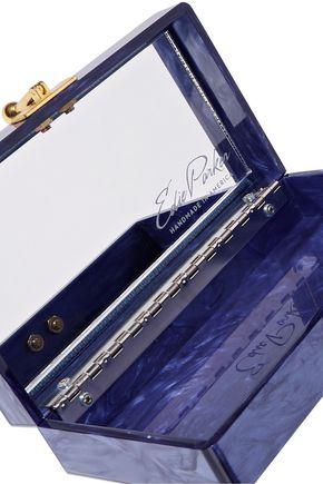 EDIE PARKER Jean Panel Luau acrylic box clutch