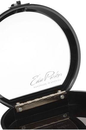 EDIE PARKER Oscar Admiral glittered acrylic clutch