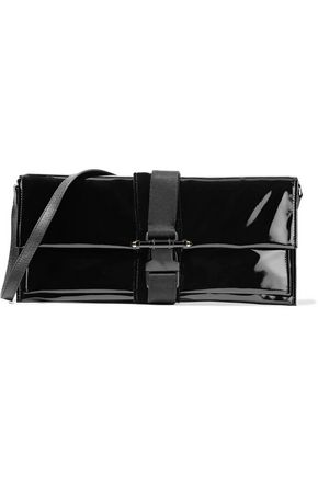 GIVENCHY Embellished faux patent-leather clutch