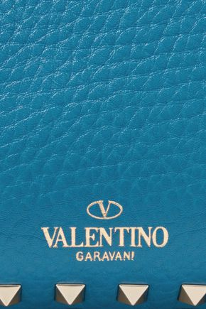 VALENTINO Rockstud textured-leather shoulder bag