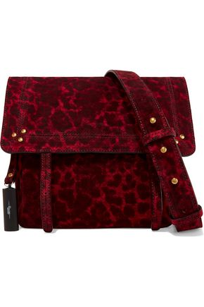 JEROME DREYFUSS Jeremie small leopard-print suede shoulder bag