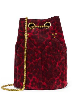 JÉRÔME DREYFUSS Leopard-print suede bucket bag
