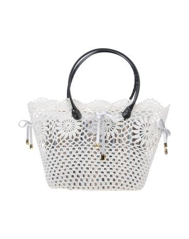 NILA & NILA レディース ハンドバッグ ホワイト 紡績繊維