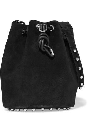 ALEXANDER WANG Alpha studded suede shoulder bag