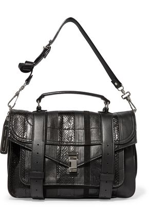 PROENZA SCHOULER PS1 paneled karung, ayers and leather shoulder bag