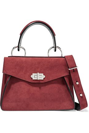 PROENZA SCHOULER Hava small leather-trimmed nubuck shoulder bag