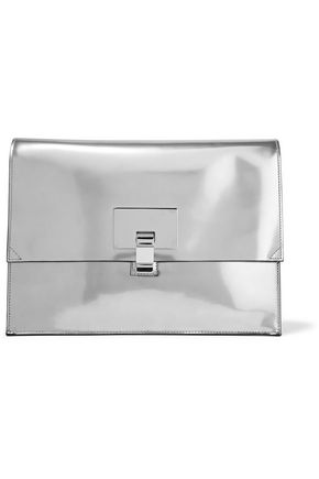 PROENZA SCHOULER Large Lunch Bag mirrored leather clutch