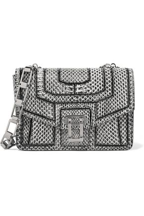 PROENZA SCHOULER Hava patent leather-trimmed elaphe shoulder bag