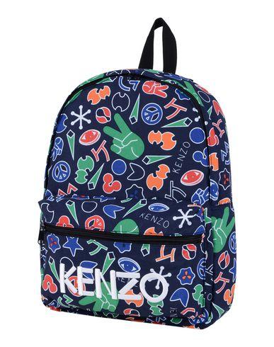 KENZO ボーイズ 3-8 歳 バックパック&ヒップバッグ ダークブルー ナイロン 100%