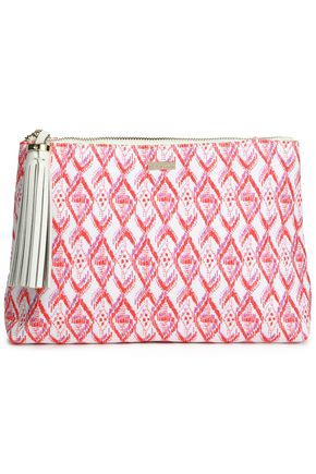 MELISSA ODABASH Tasseled printed canvas pouch