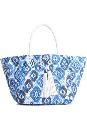 MELISSA ODABASH Braided printed canvas tote