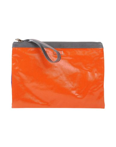 PATRIZIA PEPE レディース ハンドバッグ オレンジ ナイロン 90% / アクリル 10% / 牛革(カーフ)