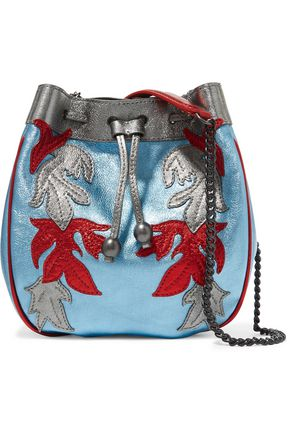 PHILOSOPHY di LORENZO SERAFINI Appliquéd metallic leather bucket bag