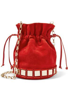 TOMASINI  Paris Lucile embellished suede bucket bag