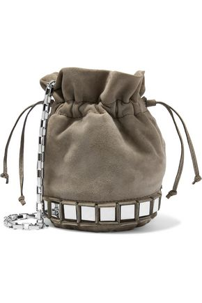 TOMASINI  Paris Lucile embellished suede bucket bag